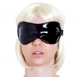 Black Vinyl Bondage Blindfold by Honour - hr-h1090