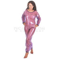 PVC Long Leg Playsuit by PVC-U-Like - pul-su13