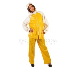 PVC Two Piece Sailing Suit by PVC-U-Like - pul-su41