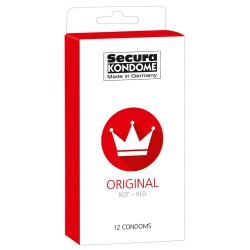 Original Red 12-pack condooms by Secura - or-04157070000