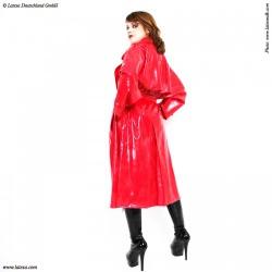 Ladies' Latex Trenchcoat by Latexa - la-3012d