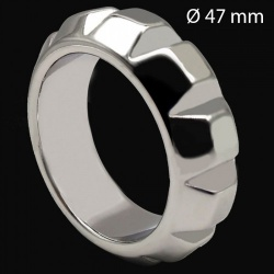 Roestvrijstalen Diamond Cockring 47 mm - mae-133894
