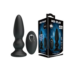 Mr. Play USB oplaadbare Vibrating Anal Plug Extra - opr-121008