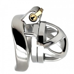 Polished stainless Steel Micro Chastity Cage - mae-sm-208
