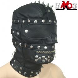 Lederen Gladiator masker - os-0415