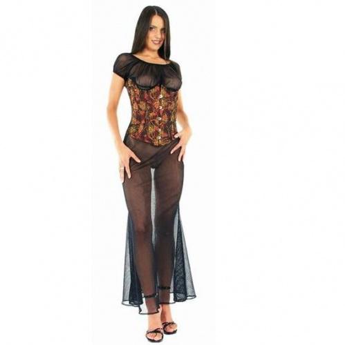 Netz Kleid Schwarz Große EU 34 - le-1585-blk-uk6-eu34