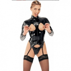 Zwarte Lak strapbody #1034 - le-1034