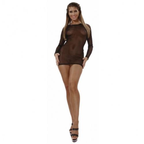 Schwarz Netz Kleid Große EU 34 - le-1098