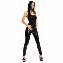 Zwarte Lak Catsuit 1174 - le-1174-blk