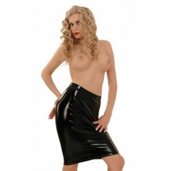 Ledapol PVC Pencil Skirt 1398 - le-1398