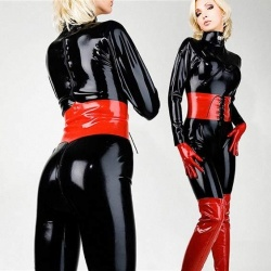 Latex damescatsuit - la-3069