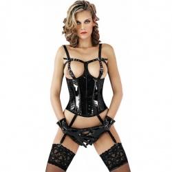 Vinyl corset with garters 1627 - le-1627