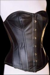 Klassiek lederen bovenborst corset - et-ec007-led