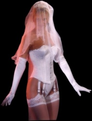 Satijnen Bruidscorset - et-ec007-wht