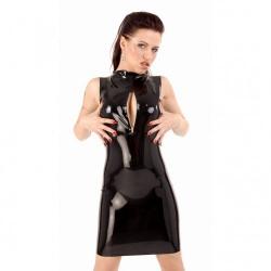 Latex mini jurkje met rits van Anita Berg - ab4061