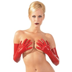 Latex handschoenen rood maten S > L - or-2900149-red