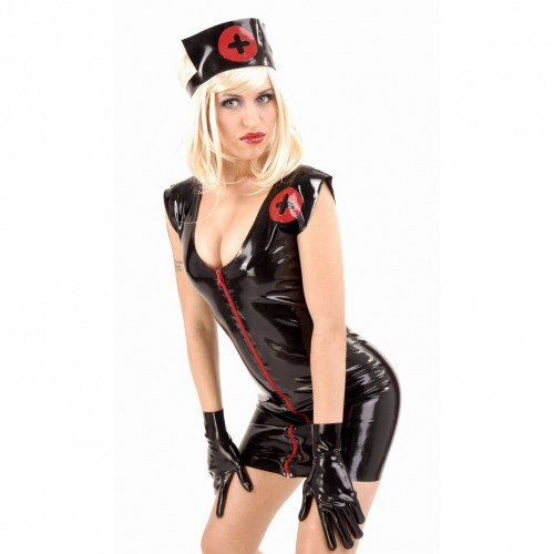 Black Latex Nurse Uniform by Anita Berg - ab4067