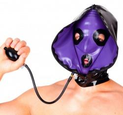 Inflatable Latex Hood with 2 zippers by Latexa - la-3172