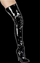 Laklederen Dijlaarzen 8cm hak - schoenmaat 36 + 39 - hg-6212