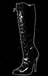 Kniehoge Leren Laarzen met veter  - hg-3222