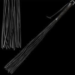 Zweep met 24 latex striemen - zwart - os-0140-1