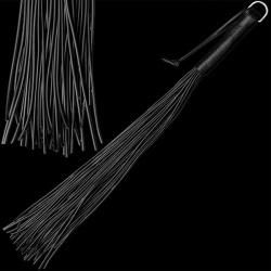 Zweep met 48 latex striemen - zwart - os-0140-2