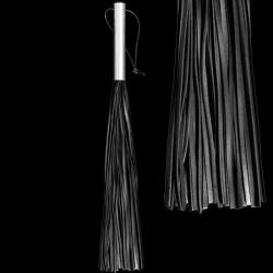 Rundlederen Zweep met aluminium greep - os-0145-2
