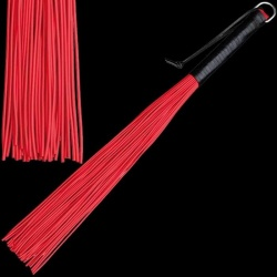 Latex whip with 48 stripes - red - os-0147-2