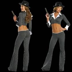 3 Stück Gangster Girl Costume - rm-1347