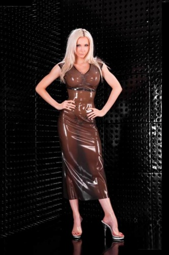 Langes Latex Kleid - la-3277
