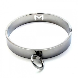 Chrome Slave Restraints Collar  - mae-sm-072