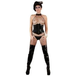 Zwart latex taille corset maten S > XXL - or-2900076