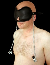 Blindfold with nipple clamps - os-blindnip