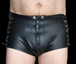 Leather Hotpants - male - os-lhpm