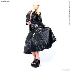 Red swinger skirt by Latexa - la-3010