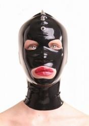 Zwart Latex masker met spikes van Anita Berg - ab4021z