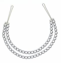 Rimba BDSM Tepelklemmen met dubbele ketting - ri-7837